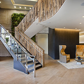 Social Salon Suites :: Location Stairwell